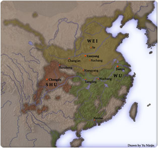 histoire Chine dynasties Trois Royaumes, Wei, Wu et Shu