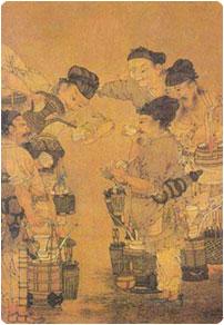 Préparation thé Long Jing dynastie Tang