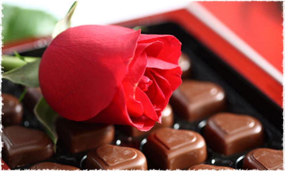 fleurs chocolat Saint Valentin