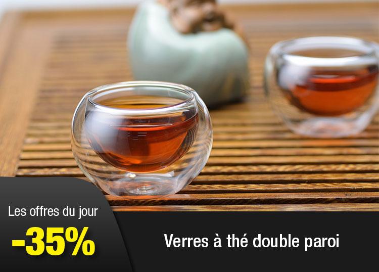 Verres à thé double paroi