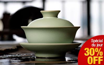 Gaiwan traditionnel en porcelaine Ru Yao
